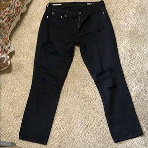 GAP Girlfriend destroyed jeans [black]